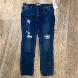 Free People Raw Edge Skinny Fit Jean 31